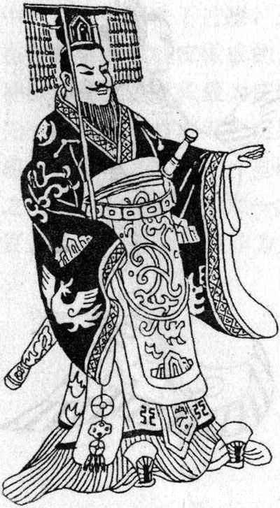秦汉时的冕服从头到脚可以分为冕冠、冕服、赤舄这三部分